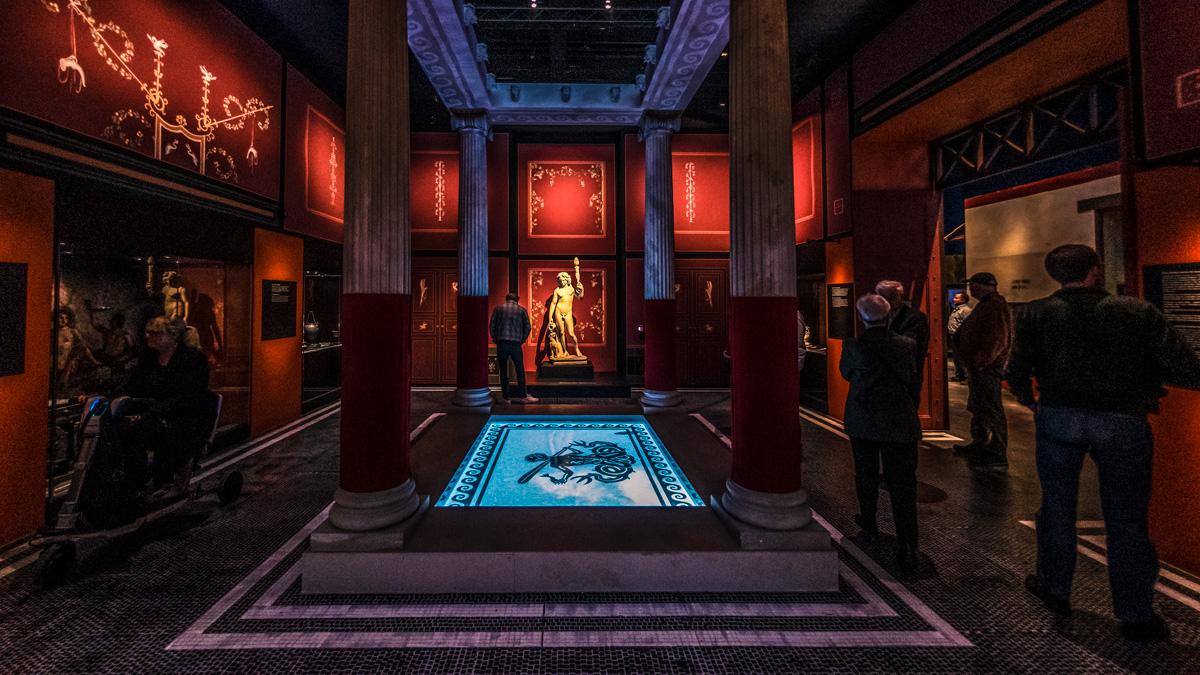 Moesgaard Museum har rekonstrueret et romersk rum, som det typiske kunne se ud i Pompeji. Foto: Moesgaard Museum.